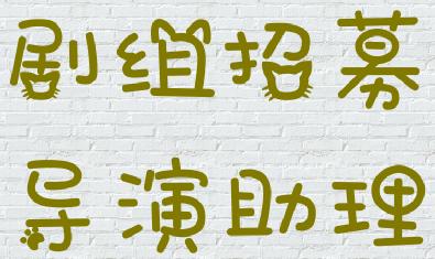 招聘导演助理