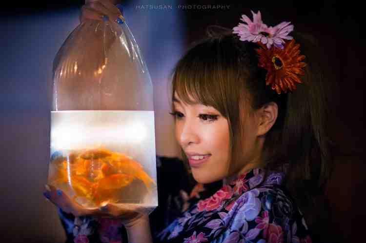 一月渔光-【思敏】和服金鱼仙女棒精品人像